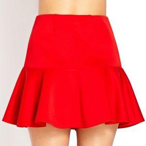Red Darling Drop-waist Skirt